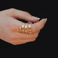 Spiralni prsten za mršavljenje - širi (pozlata)
